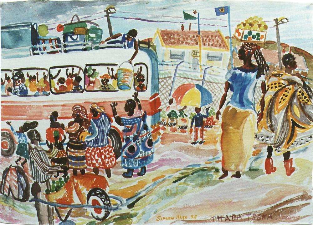 Lesotho-Bus