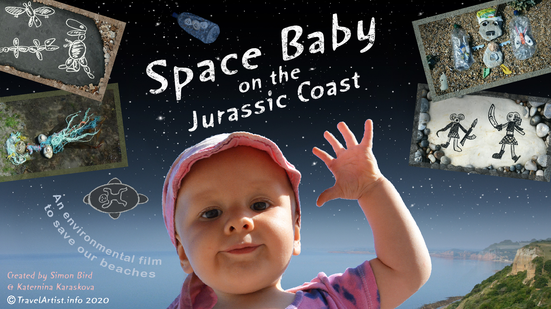 SpaceBaby on the Jurassic Coast